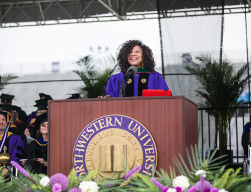Dr. Sheri delivers commencement speech at the 2015 Weinberg College Convocation